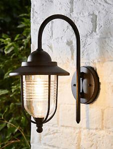 CGC Black Fishermans Outdoor Vintage Lantern Wall Light Door Retro Security