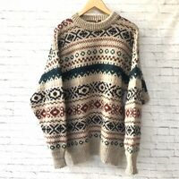 Nordstrom Shetland Wool Sweater Vintage Pullover Men Large Winter Outdoors Warm