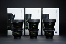 Zeiss Otus lens set - 28mm 55mm 85mm 1.4 lente cinevised with Canon EF Mount
