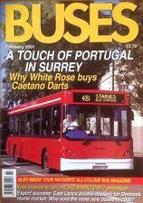 Buses Magazine Feb 2001 - East Lancs in Copenhagen, White Rose, Spain, Madrid