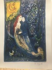 """MARC CHAGALL """"WEDDING"""" Limited Edition Facsimile Signed Lithograph Art"""