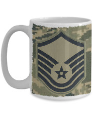 US Air Force Master Sergeant|MSgt|E7 Mug - Gift for Veteran, Airman, Promotion