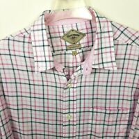 BILLS KHAKIS Men's Shirt L Plaid Pink Gray Button Down Multi-Color Long Sleeve