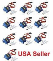 10pcs x 9G SG90 Mini Micro Servo For RC Robot Helicopter Airplane Car Boat Lots