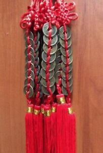 Feng Shui Chinese Lucky coins charm string of 8- Ching wealth and prosperity