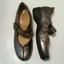 Sanita Women Mary Jane Shoes Ballet Flats Metallic Silver Leather Sz 37/ US 6.5