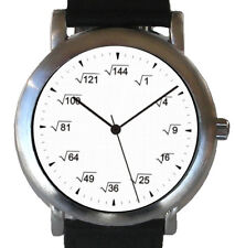 """""""Mathematics Dial"""" -  Theme Watch Shows A Square Root Equation At Each Hour Mark"""
