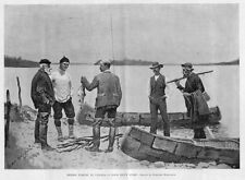 FREDERIC REMINGTON SPRING FISHING IN CANADA BY CANOE A GOOD DAY'S SPORT FISH