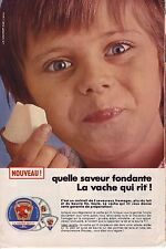PUBLICITE ADVERTISING 1968 014 VACHE QUI RIT quelle saveur fondante  fromage