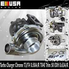 T3/T4 Chrome Turbo Charger .50 A/R T04E T3 T4 STAGE 3 RSX K20 RB25 Miata HP 450