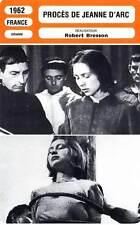 FICHE CINEMA : PROCES DE JEANNE D'ARC (mod.A) Delay,Fourneau,Bresson 1962