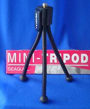 """SEAGULL clip on mini 5"""" tripod stand for digital camera flexible 3 legs"""