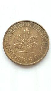 1985 GERMANY 10 PFENNIG COIN