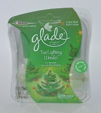 2 PACK GLADE PLUGINS TREE LIGHTING WONDER FIR SPRUCE SCENTED OIL REFILL PLUG IN