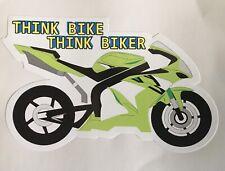 KAWASAKI NINJA THINK BIKE BIKER MOTORBIKE CAR WINDOW BOOT STICKER TRACK RACE ZR