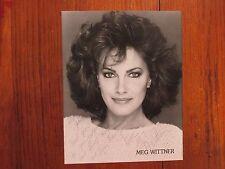 """MEG  WITTNER(""""Somerset/Melrose  Place"""")Signed  8 X 10  Black & White  Photo"""