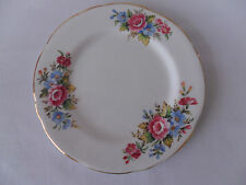 Royal Stafford Bone China 16.5cm Tea Plate with Pink and Blue Flowers