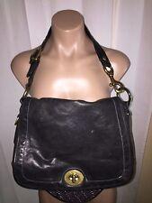 Ltd Edition COACH Legacy Flap Black Vachetta Leather Handbag #11134 RARE