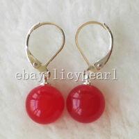 weiß rot schwarz blau schale perle Ohrringe