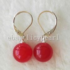 schöne 10mm weiß grün rosa rot orange blau schwarz Jade Hebel zurück Ohrringe