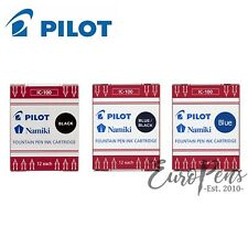 Pluma paralelo piloto de los cartuchos de tinta IC-100 - Paquete de 12-Negro, Azul, Azul-Negro
