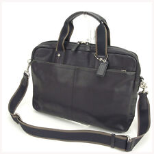 Coach Business bag Black Mens Authentic Used Y636