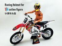 1/6 Scale Plastic Racing Helmet Scene Props Accessory Fit 12'' Action Figure