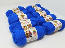 Nib Lion brand Acrylic yarn 10 Skeins per bag 650 yards Color Royal Blue