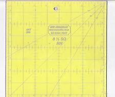 """8.5"""" x 8.5"""" square ruler - for patchwork, crafting - use with rotary cutter"""