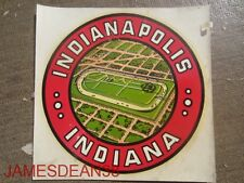 VTG WINDOW TRAVEL STICKER DECAL SOUVEN WATERSLIDE INDIANAPOLIS INDIANA SPEEDWAY