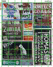 1025 DAVE'S DECALS BEER THEATER VICTOR DRUGS COALS BUILDING GHOST SIGNS ADVERTS