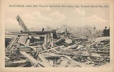 NEW CASTLE IN March 11 1917 Tornado Damage 25th St Mrs Fletcher Vintage Postcard