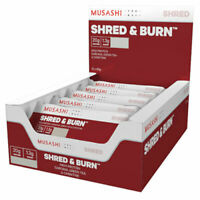 MUSASHI Shred & Burn 12 x 60g Bars P20G Shred and Burn All Flavours Available