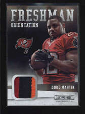 DOUG MARTIN 2012 ROOKIES AND STARS ROOKIE RC USED WORN 3-CLR PATCH #46/49 AB6169