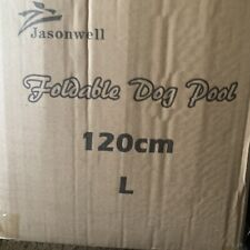120cm Foldable Pet Swimming Pool Dog Bath Pool Collapsible Blue Open Box