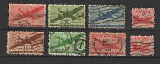 U.S.A États-Unis d'Amérique années 40 air mail 8 timbres oblitérés/T2303