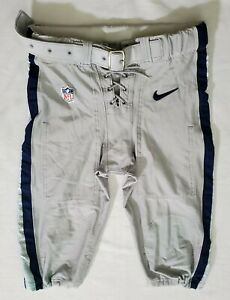#93 of Dallas Cowboys Locker Room Player Worn Silver Football Pants - 38 Short