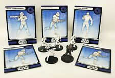 """Wizard Coast Star Wars Miniature Lot of 5 Stormtrooper Imperial Officer 1.5"""" RPG"""