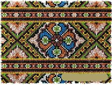 "Latch hook Diy rug kit ""Patterned Rug"" Blank Canvas approx 48x64cm"