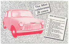 Mini Celebrates 25 Years Issued by Veldale Modern Postcard