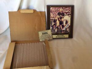 Stacks Of Plaque Signed Bart Starr Super Bowl 1 & 2  MVP NFL 1977 Hall Of Fame!