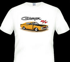 VALIANT  VH  R/T  CHARGER  E38   QUALITY  WHITE TSHIRT ( 7 CAR COLOURS )
