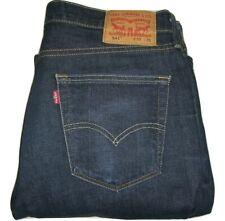 Mens LEVI'S 541 Athletic Tapered Fit Dark Blue Stretch Denim Jeans W35 L33