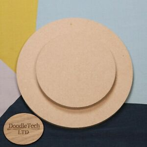 Circle 6mm 12mm 18mm Thick MDF 100mm to 600mm Diameter Square Edged Shape Wooden