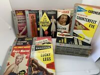 Lot of 15 Vintage 1950s Erle Stanley Gardner Perry Mason Pocket PB Pin Up Art