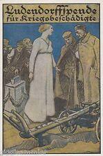Ludendorff-Spende für Kriegsbeschädigte AK Künstler Militaria 1608607