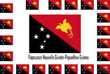 Assortiment 25 autocollants Vinyle sticker drapeau New-Guinea-Papua-Nueva-Guinea