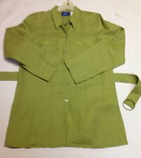 J. H. COLLECTIBLES Linen Tunic Blouse Shirt Jacket Button Down Women's M NEW