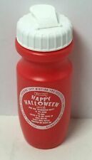 """RED/WHITE """"HAPPY HALLOWEEN"""" PRINTED REUSABLE PLASTIC WATER BOTTLE,FREE SHIPPING"""