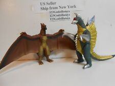 "Set of 2~ 2018 Japan Godzilla Bandai  6"" Vinyl Figure Final Wars Rodan and Gigan"